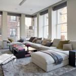 Phòng khách hiện đại với ghế sofa nhiều khối 1